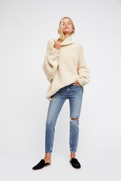 We The Free Crescent Blue Suzi Low Rise Skinny at Free People Clothing Boutique