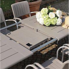 Table de jardin rectangulaire Maestrale taupe, NARDI