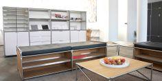 System 180 Couchtisch I Beistelltisch I Walnuss I Modularer Tisch