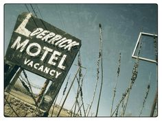 Derrick Motel Abilene Texas Abandoned Neon Sign Vintage West