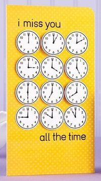 I miss you all the time love card cards Miss You Cards, Love Cards, Diy Cards, Diy Birthday, Birthday Cards, Cute Gifts, Diy Gifts, Karten Diy, Creative Cards