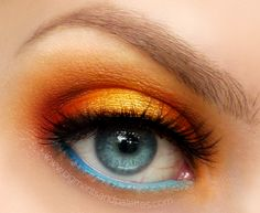 i love this orange eyeshadow! it reminds me of the sun rising when it looks 5 times its normal size and it's that beautiful golden orange. some of these eye shadows used here is by makeup geek. i'm a die hard MAC girl and have bought makeup geek before which is compared to MAC and i must say rightfully so. great products.