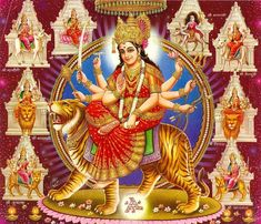 Goddess Durga who symbolizes strength or Shakti, is widely worshipped on the occasion of Navratri. Read further to know about different Devi Mantras we can chant during Navratri. Maa Durga Image, Durga Maa, Durga Goddess, Goddess Art, Navratri Greetings, Navratri Wishes, Chaitra Navratri, Navratri Festival, Navratri Wallpaper