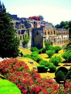 Jardins em Pompeia, Italia.