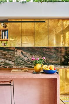 When Kip & Co's co-founder Alex Van Der Sluys showed us inside her Australian home, our retinas dilated in sheer delight. Check out her gold cabinets.