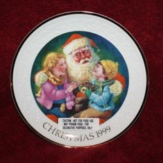 VINTAGE AVON COLLECTOR 1999 CHRISTMAS PLATE PORCELAIN WITH 22K GOLD TRIM