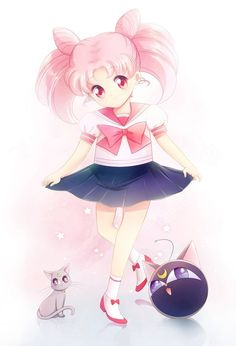 I think Chibi Usa is probably my favourite Sailor Moon character! Sorry Usagi....