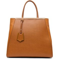 Fendi Large Shopper Bag in Dark Orange