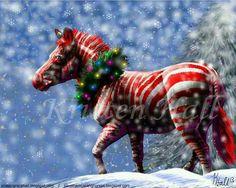 Candy cane zebra ♡ ♡ ♡