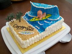 Baby Shower Cake For A Surfer  Decorating Community Cakes We