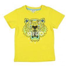 944efc40895f1 Boys Yellow Tiger Print T-Shirt Kenzo Kids Boys Short Sleeve