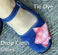 drop cloth tie dye shoes from Condo Blues #tiedye
