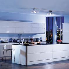 white gloss drawer kitchen