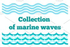 Collection of Marine Wave by ToriArt on @creativemarket