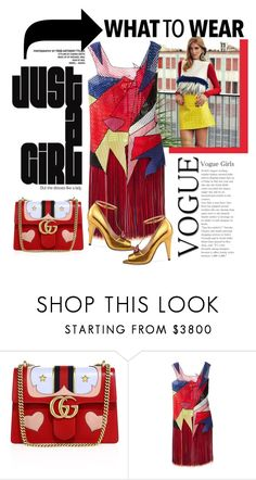 """""""Vogue girls"""" by cool-cute ❤ liked on Polyvore featuring Gucci, Chiara Ferragni and Christopher Kane"""