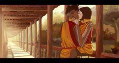 Kainora sneak a kiss