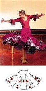 Discover recipes, home ideas, style inspiration and other ideas to try. Dance Outfits, Dance Dresses, Costume Flamenco, Sewing Clothes, Diy Clothes, Clothing Patterns, Dress Patterns, Ballroom Dress, Dance Wear