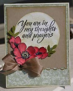 Sympathy Card using Fabulous Florets