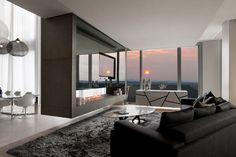 Penthouse Interior by Saota and Okha Interiors