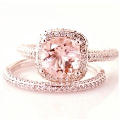 pink emerald and rose gold ring!  OH MY