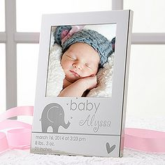 OMG this baby frame couldn't be ANY cuter!!!! And they engrave it with all of the baby's birth info for free! LOVE IT!