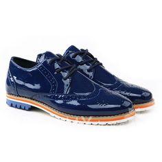 $19.07 British Style Men's Casual Shoes With Patent Leather and Openwork Design
