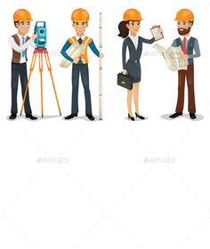 Buy Civil Engineers by yayasya on GraphicRiver. This vector is saved in with color space in RGB. Also there AI Illustrator, JPG image, and PNG format.