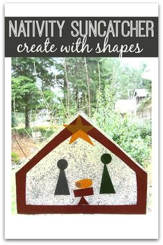 Manger craft for toddlers and preschoolers. Such a sweet Christmas craft for a church preschool or Sunday school craft.