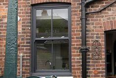 Hidden Gems For Home Improvement Inspiration And Ideas Upvc Patio Doors, Upvc Sash Windows, Grey Windows, Windows And Doors, Grey Window Frames, Outside Paint, Cottage Windows, Willow House, Georgian Architecture