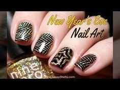 Sparkle Sparkle ~ New Year's Eve Nail Art! - YouTube