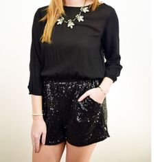 Sexy sequin romper  Forever 21 sequin romper...never worn. Forever 21 Other