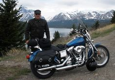 This #biker might be your best friend and companion you'll ever have. Do you want to meet him, just click his picture and meet him. #mountains #lake #bikerplanet