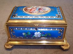 Rosewood box Brass bound ladies vanity box Vanity items and
