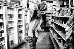 Erin Wasson goes grocery shopping
