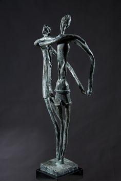 GAZES bronze cm 79 arch.14101  L'ACCHIAPPALUNA