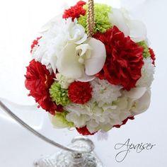. 和装用ボールブーケ♡ . 最近生花もアーティもコチョウランを使う事が多いな〜(* Ŏ∀Ŏ) .  #コチョウラン #和装前撮り #和装 #プレ花嫁 #福岡 #結婚式 #ボールブーケ #ウェディングブーケ #wedding #japanese #flowerstagram #ダリア #花のある暮らし #artificialflower #アーティフィシャルフラワー #ブライダルフラワー #喜んでいただけました Ever After, Marie, Wedding Planning, Bloom, Table Decorations, Awesome, Beautiful, The Vow, Wedding Ceremony Outline