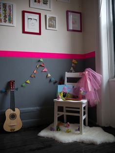 idée chambre fille fluo rose