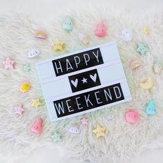 "Fantasyroom on Instagram: ""Happy Weekend Ihr Lieben!  . #happyweekend #lightbox #littlelovelycompany #fantasyroom"""