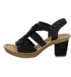 Rieker Damen Sandale schwarz 66552-00