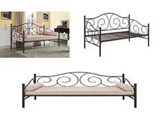 #daybed Bronze Metal Daybed Frame Modern Bedroom Sleeper Sofa Platform Foundation Bench