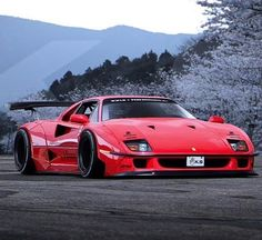 Liberty Walk Ferrari F40 rendering • Sincerely hope no one is idiotic enough to actually do this... #Ferrari #F40