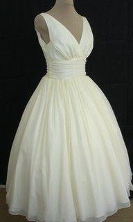 50's style wedding dress.