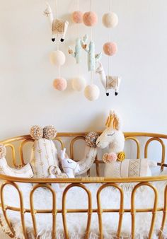 Handmade Llama & Cactus Baby Mobile & Pillows | BohoBabyHeaven on Etsy