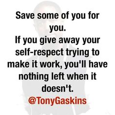 Don't give yourself all away