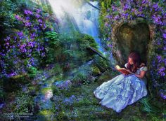 Lavender reader. By Feainne.Deviantart.com