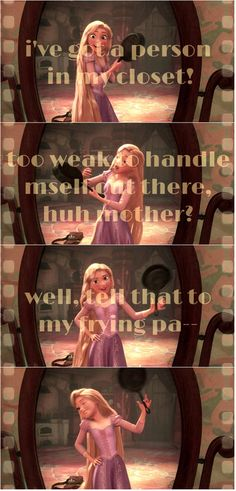 Day 20 funniest moment - I love this part in tangled! It reminds me of myself!