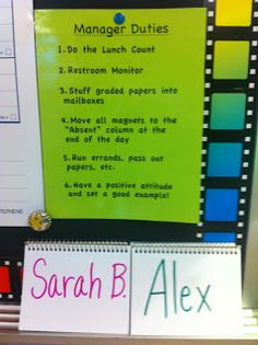 """I like this """"Classroom Manager"""" system, it's simple and easy for the teacher to manage!"""