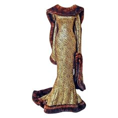 Collector Rare Thierry Mugler Brocade Medieval Gown | From a collection of rare vintage evening dresses at https://www.1stdibs.com/fashion/clothing/evening-dresses/