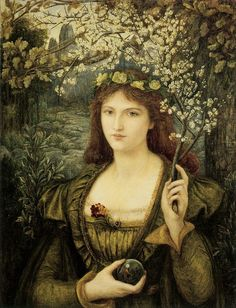 Marie Spartali Stillman - Madonna Pietra degli Scrovegni (1884) Watercolor, gouache and gum arabic - 78.5 × 61.1 cm - Walker Art Gallery, Liverpool, UK