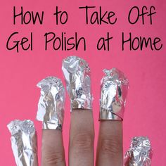No need to wonder how do you take off gel nail polish at home; all of your questions are answered in this post with detailed pictures. Fingernail Polish Remover, Shellac Nail Polish, Gel Nail Removal, Glitter Nail Polish, Uv Nails, Take Off Gel Nails, Gel Nails At Home, Gell Nails, Chipped Nail Polish